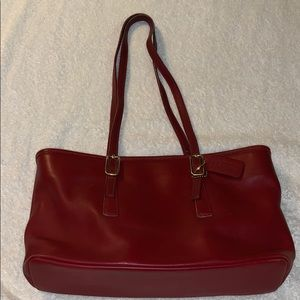 Coach vintage leather Legacy tote in red